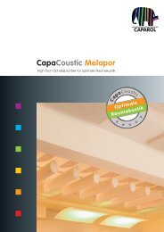 CapaCoustic Melapor - Deutsche Amphibolin Werke -  Caparol