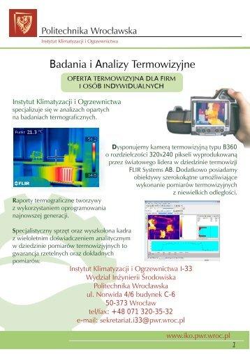 Badania i Analizy Termowizyjne