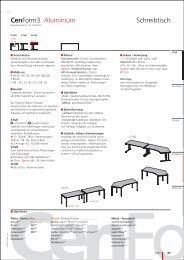 Cen Form3 CenForm3 Aluminium Schreibtisch