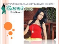 Enjoy Pune escorts at GeetKulkarni escorts in Pune