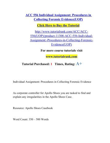 ACC 556 Entire course (Forensic accounting)
