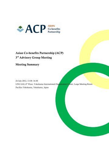 3 Advisory Group Meeting Meeting Summary