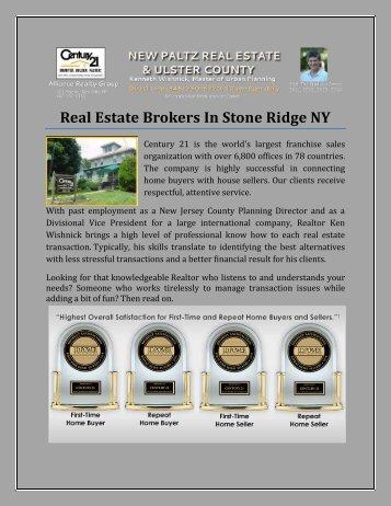Real Estate Brokers In Stone Ridge NY.pdf