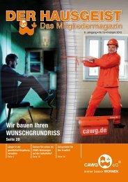 DER HAUSGEIST 15 (pdf 7.6 MB) - CAWG eG