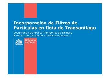 Incorporación de Filtros de Partículas en flota de Transantiago