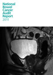 National Bowel Cancer Audit Report 2011