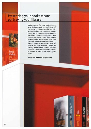 Presenting your books means portraying your library