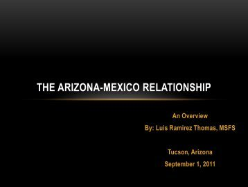 THE ARIZONA-MEXICO RELATIONSHIP