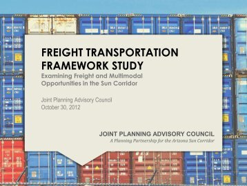 Freight Transportation Framework Study - Joint Planning Advisory ...