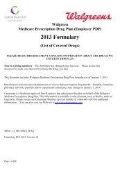 Walgreens Actives 2013 Version 15 Comprehensive ... - Catamaran
