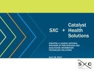 Catalyst SXC + Health Solutions