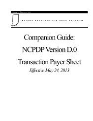 NCPDP Version D.0 Transaction Payer Sheet - indianamedicaid.com