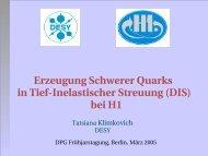 Erzeugung Schwerer Quarks in TiefInelastischer Streuung (DIS) bei ...