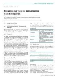 Rehabilitative therapie bei armparese nach Schlaganfall