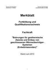 Merkblatt Fortbildung und Qualifikationsnachweis Fachkraft - DGGT