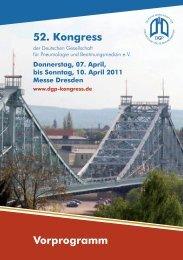 52. Kongress Vorprogramm - Deutsche Gesellschaft für Innere ...