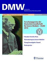 Seite 1-U1-2010.fm - Deutsche Gesellschaft für Innere Medizin (DGIM)