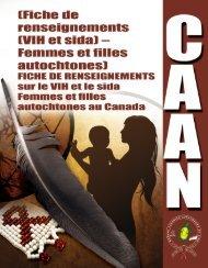 (Fiche de renseignements (VIH et sida) – Femmes et filles ...