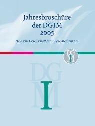 DGIM 05 rz.indd - Deutsche Gesellschaft für Innere Medizin (DGIM)