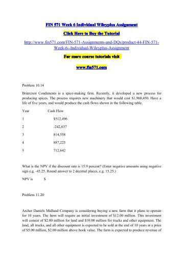FIN 571 Entire Course (NEW)