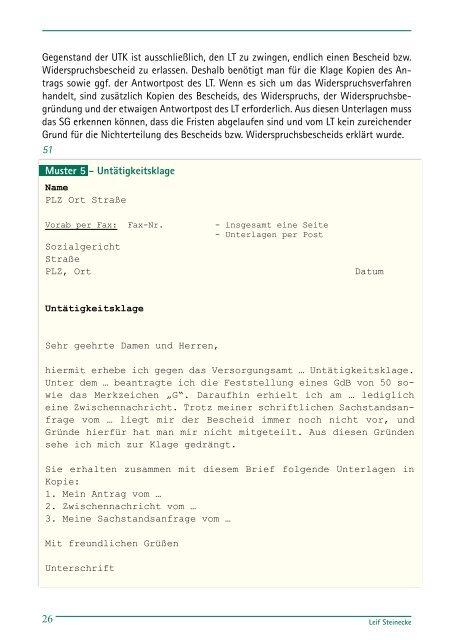 Der Sozialrechtsweg - Deutsche Gesellschaft für Muskelkranke (DGM)
