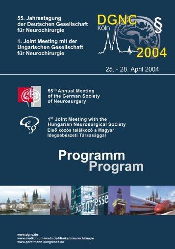 DGNC Programm 2004 - Deutsche Gesellschaft für Neurochirurgie ...