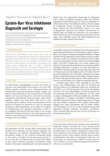 epstein-Barr Virus infektionen Diagnostik und serologie - DGSP