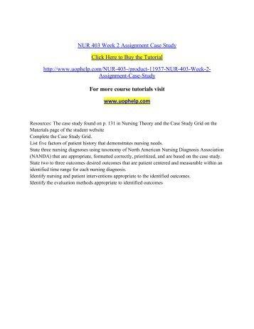 nur 403 debbie case study grid