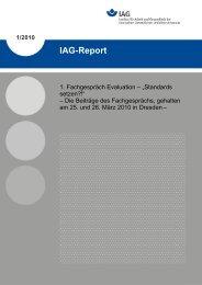 1/2010 IAG-Report - Deutsche Gesetzliche Unfallversicherung