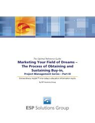 Marketing Your Field of Dreams - ESP Solutions Group