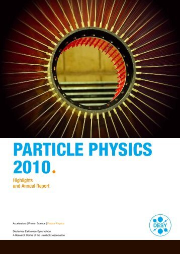 PARTICLE PHYSICS 2010 Annual report of the particle - Desy
