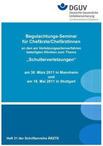 Begutachtungs-Seminar für Chefärzte/Chefärztinnen an den am