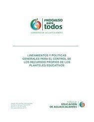 lineamientos y políticas generales para el control de los recursos ...