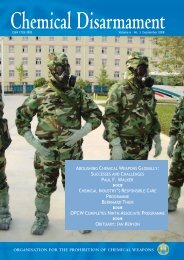Successes and Challenges - Chemical Weapons Working Group