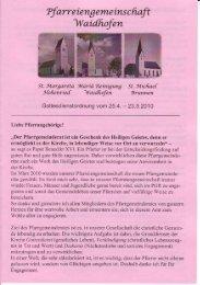 Kirchenanzeiger: 25. April 2010