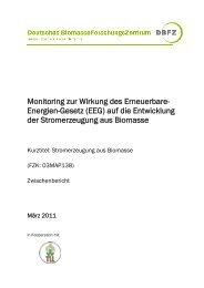 Monitoring zur Wirkung des Erneuerbare- Energien-Gesetz (EEG ...