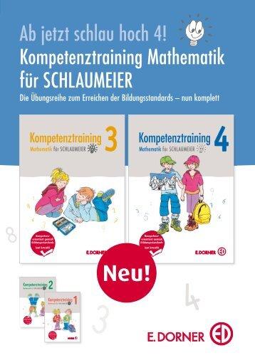 Ab jetzt schlau hoch 4! Kompetenztraining ... - Verlag E. Dorner