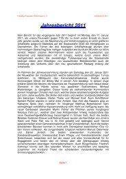 Jahresbericht 2011 - beim Bürgernetz Neuburg-Schrobenhausen