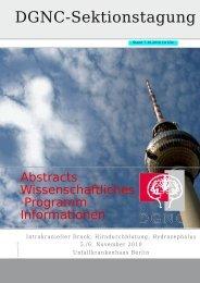 DGNC-Sektionstagung - Deutsche Gesellschaft für Neurochirurgie ...
