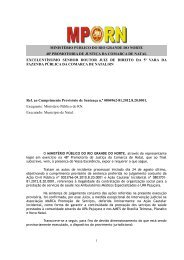 A Petição - ministério público do rn