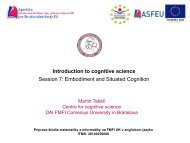 Introduction to cognitive science Session 7 Embodiment and Situated Cognition
