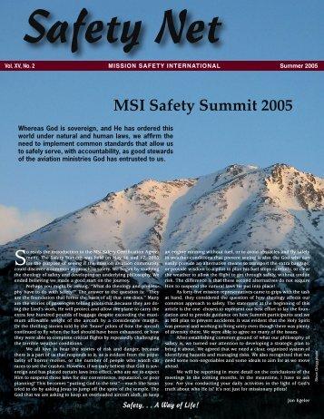 SN-Summer 05 (6-29).indd - Mission Safety International