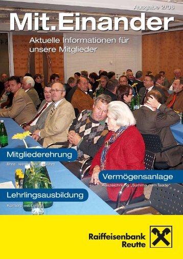 Mitgliederzeitung 2/2006 zum Download - Raiffeisen