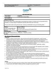 JOB DESCRIPTION Key Duties & Responsibilities: - CommunityNI