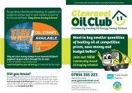Membership Scheme Leaflet - Glenravel Oil Club