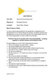 JOB PROFILE Job Title: Head of Human Resources ... - CommunityNI
