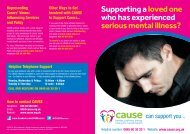 Supporting a loved one who has experienced serious mental illness?