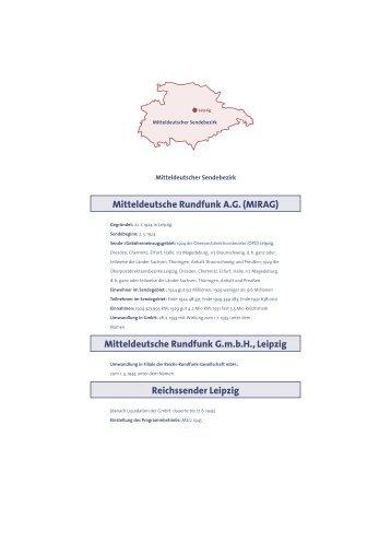 Mitteldeutsche Rundfunk A.G. (MIRAG) Mitteldeutsche Rundfunk ...