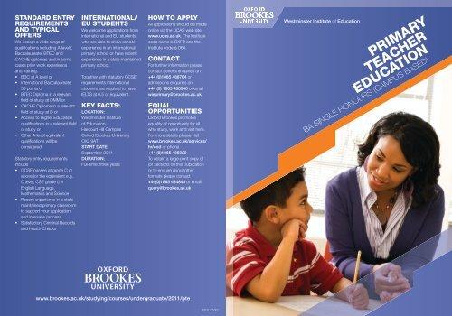 PRIMARY TEACHER EDUCATION - Distinct