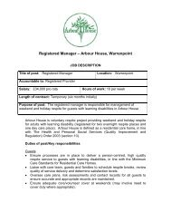 Registered Manager – Arbour House Warrenpoint